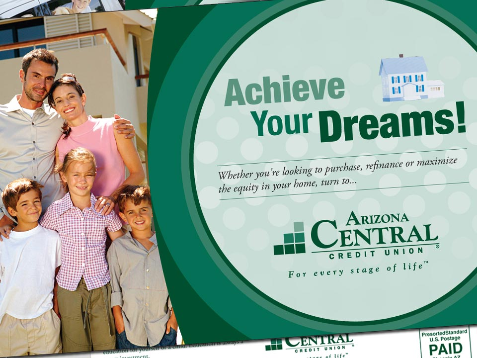 Arizona Central Credit Union Direct Mail Postcard Example 2