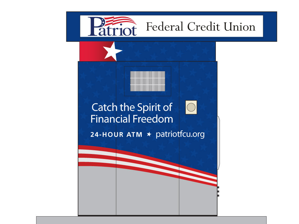 Patriot Federal Credit Union ATM Wrap Design Example 2