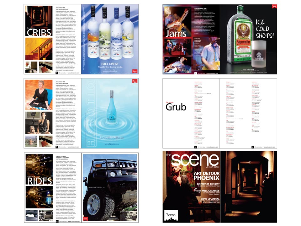 the Scene Magazine Design Example 2
