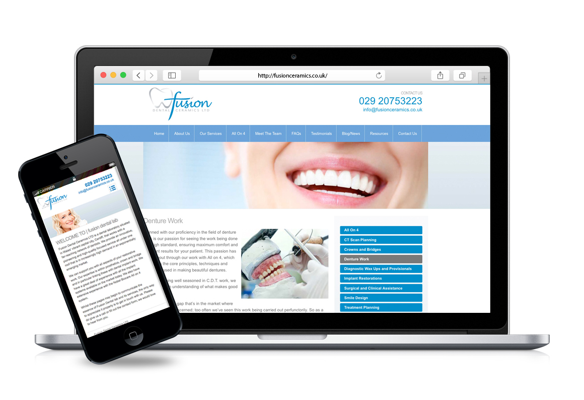 Fusion Dental Splashpage