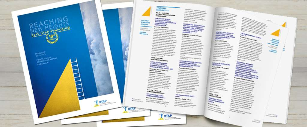 2015 iiTAP Symposium manual cover and interior spreads image