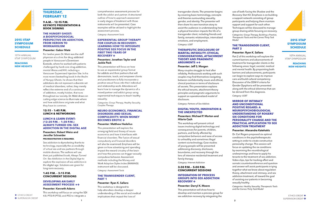 2015 IITAP Symposium Brochure Page Spreads