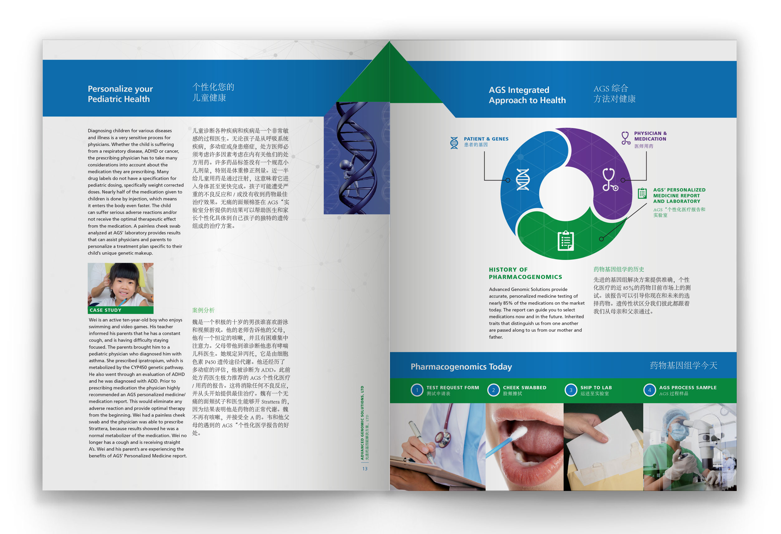 Advanced Genomic Solutions Marketing Collateral Interior Spread image