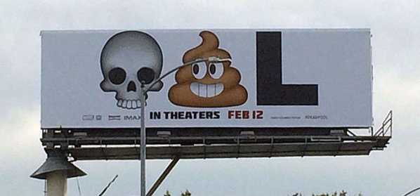 Since comedian Patton Oswalt tweeted a photo of the Deadpool billboard, it's gone viral.